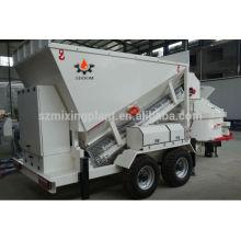 Pequena escala de produção de concreto usos móveis em fábrica de plantas de concreto