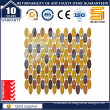 Mosaico De Vidrio Oval, Mosaico De Vidrio Del Arco Iris Del Lustre Kse9316