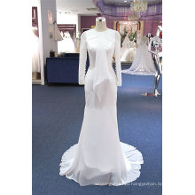 Long Sleeve Satin Mermaid Wedding Dress