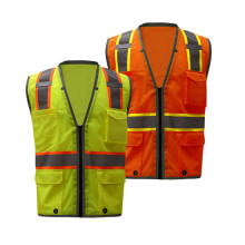 Industrial visibility Vest dengan Reflective Stripes
