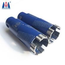 vacuum brazed turbo segmented core drill bit for granite dry drilling