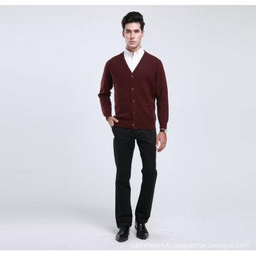 Bn1488yak laine / Cachemire col V à manches longues chandail / vêtements / vêtement / tricots