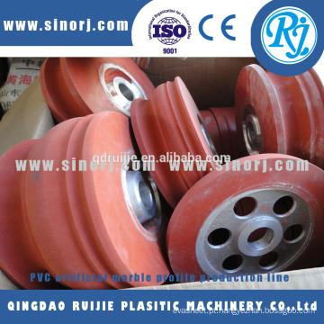 PVC imitação mármore bobinador perfis plásticos faz a linha de máquinas