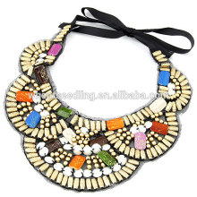2014 fashion design wood rosary necklace