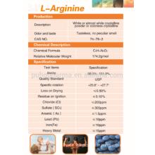 Approvisionnement en poudre L-Arginine de haute pureté, prix L-Arginine GMP