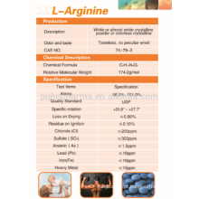 Fornecimento de pó de L-arginina de alta pureza, preço de L-arginina GMP