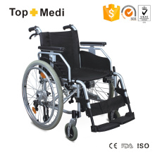 Cadeira de rodas manual multifuncional de alumínio com tambor de travamento Topmedi