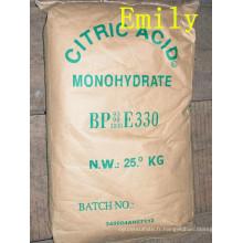 Acide citrique de haute qualité anhydre ou monohydraté