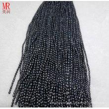 6-7mm Black Rice Freshwater Pearls Strands (ES371)