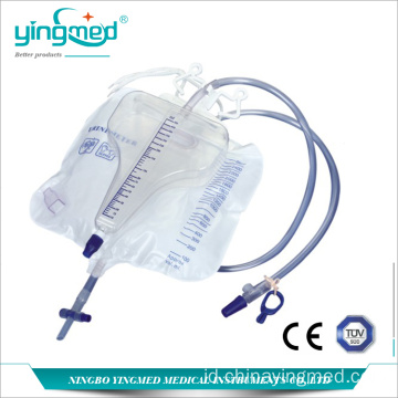 3100ml Pyriform Urine bag dengan meter