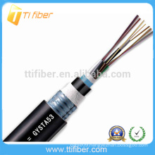 Good Quality Cheap price SINGLE MODE 8 core GYTA53 FIBER OPTIC CABLES with STEEL ARMOR