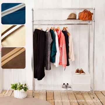 3 Tiers Adjustable Chrome Metal Closet Shelf Rack