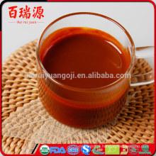 Misturado goji berry suco de goji orgânico goji suco quantidade