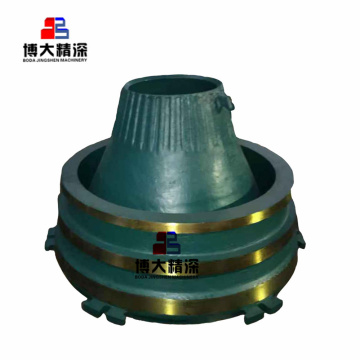 Cone crusher parts mantle and concave for gp100