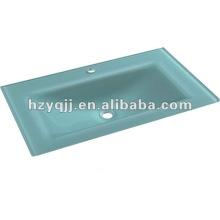 Banheiro moderno de design simples bancada de bancada bacia de vidro temperado
