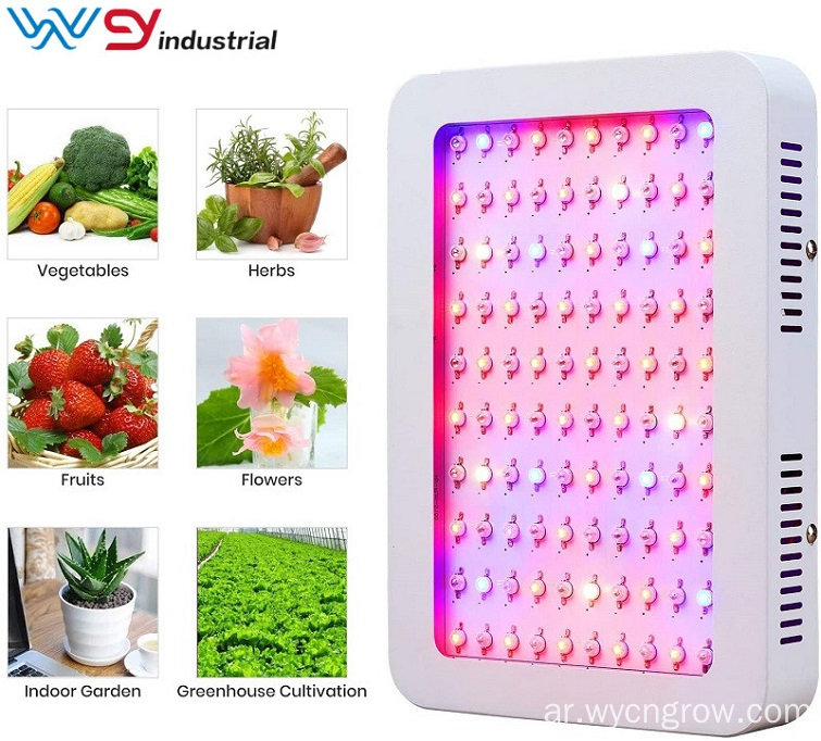 مفتاح مزدوج BLOOM / VEG 600W LED ينمو النبات