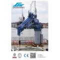 Équipement de manutention des navires 2t7m et 7t10m Telescopic Boom Ship Crane
