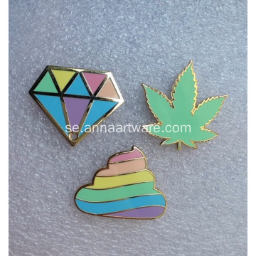 Custom Diamond Shape Pin Badge