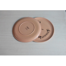 (BC-P1017) Hot-Sell Natural Bamboo Fiber Biodegradable Plate with Print