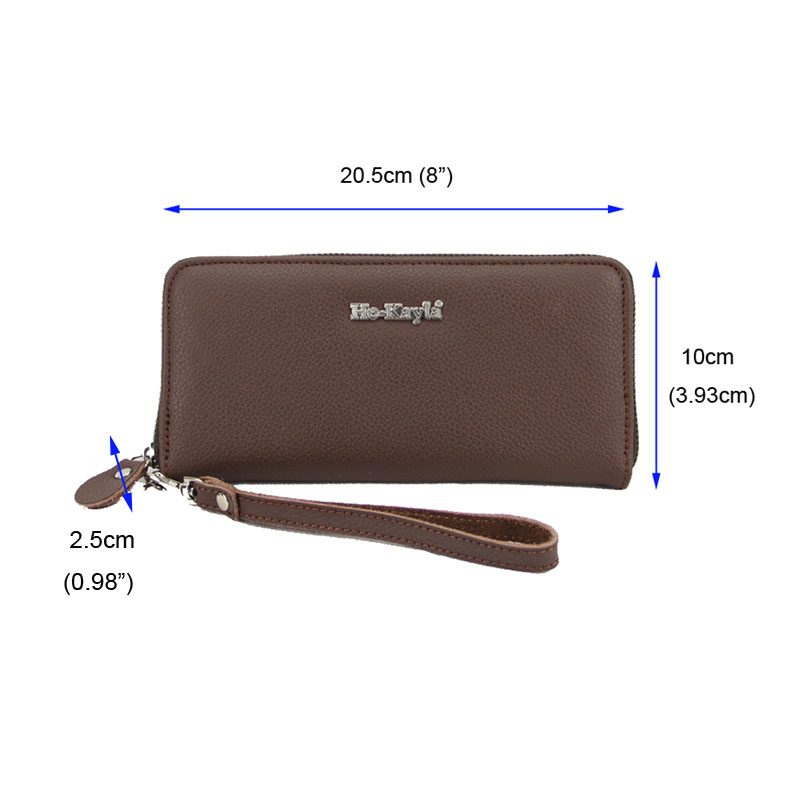 Women Long Wallet With Zipper