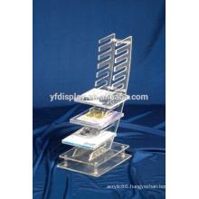 high quality diy acylic guitar CD display racks