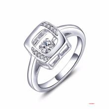 Tanzen Diamant Schmuck 925 Silber Ringe CZ Set