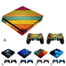 Game Stickers Set Controller Host Handle Sticker Cover Skin Acessório para Sony PlayStation PS4 Play Station PS 4 Slim