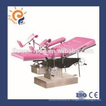 China manual de instrucciones manual mesa de operaciones ginecológica mesa de operaciones