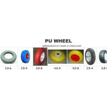 Carretilla de goma de la PU de la rueda del poliuretano de la carretilla y de la mano de la prueba de la puntura todo el tamaño