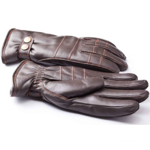 Men′s Fashion Sheepskin Leather Motorcycle Driving Gloves (YKY5188-2)