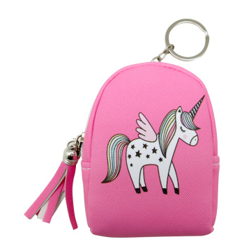 PINK UNICORN COIN PURSE KEYRING-0