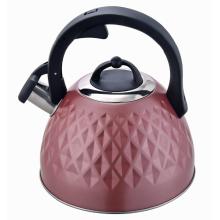 Pote de chá macio com alça de madeira revestida