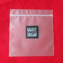 Sac en plastique d'emballage avec fermeture à glissière