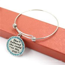 Bracelet haute qualité en bijoux en acier inoxydable, bracelets réglables