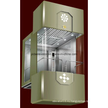 Классический открытый панорамный лифт с 3 сторон стекла