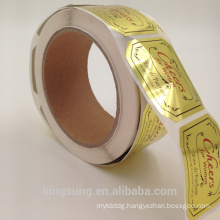 wholesale gold foil paper printing black sticker paper for cosmetic perfume