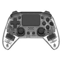 Transparente schwarze Fernbedienung für PS4 Bluetooth