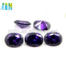 Venda quente jóias de zircônia cúbica, forma OVAL pedra de zircônia cúbica, zircônia cúbica