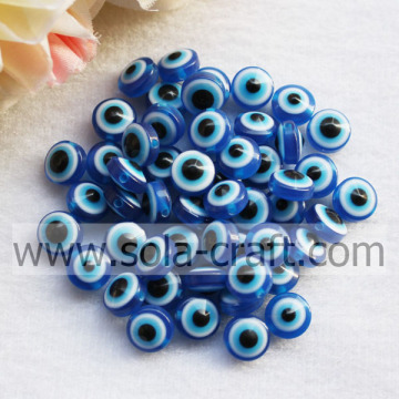 Acrylic Dark Blue Loose Solid Crackle Opaque 7*10MM Wholesale Beads For bracelet & necklace