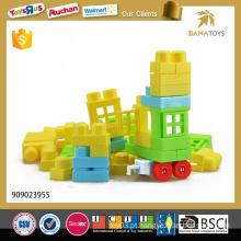 Brinquedos educativos de construção de blocos de plástico 48pcs para crianças