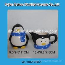 Azúcar de cerámica de alta calidad y juego de crema