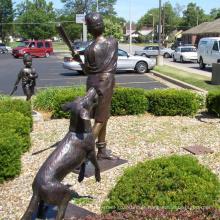 fundição de bronze perdeu a estátua de menino de beisebol de cera de fundição para decoração de casa