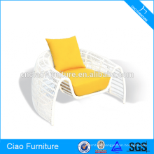 Outdoor Garden Furniture White Rattan Chair