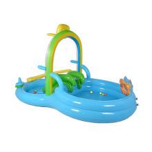 child inflatable swim pool with slides kiddie ball