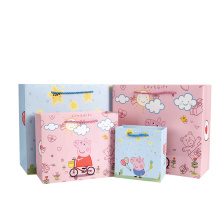 Eco friendly new design ribbon custom packaging paper bag for delivery