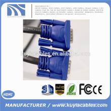 15FT 15 PIN BLUE SVGA VGA ADAPTATEUR Moniteur M / M Câble mâle à mâle CORD POUR PC TV