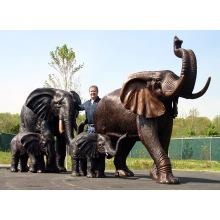fundição de bronze fundição metal artesanato bronze elefante en bronze para estátua