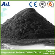 charbon actif en poudre noire