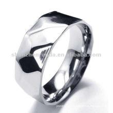 Simples, moda, brilhar, argyle, 316, aço, anel