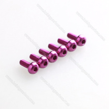 OEM Colorful Aluminum 6061/7075 Hexagon round head screw